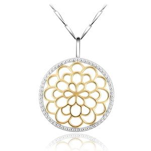 Jewelry - Sterling Silver & 18 K Gold Pendant & Chain